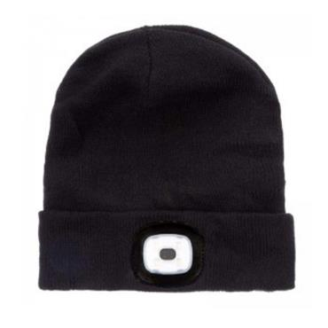 EAPOLLO STORM RIDGE BEANIE HAT WITH INTEGRATED LED LAMP BLACK