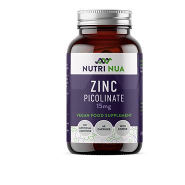 NUTRI NUA ZINC PICOLINATE 15MG 60 CAPS