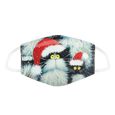 FACE COVER CHRISTMAS CAT ADULT