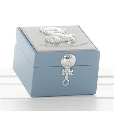 BLUE BABY KEEPSAKE BOX