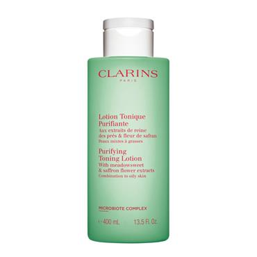 CLARINS PURIFYING TONING LOTION 400ML COMBINATION TO OILY SKIN
