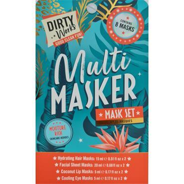 DIRTY WORKS MULTI MASKER  FACE,HAIR ,EYE AND LIP MASK SET