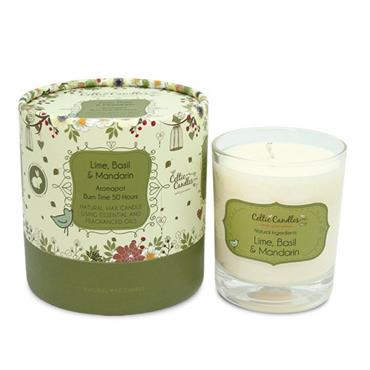 CELTIC CANDLES LIME BASIL N MANDARIN CANDLE