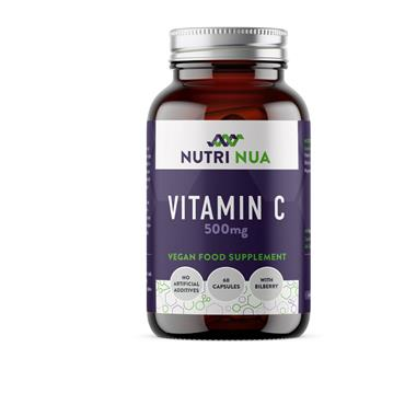 NUTRI NUA VITAMIN C WITH BILBERRY EXTRACT  500MG 60CAPS