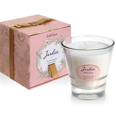 JARDIN BY TIPPERARY CRYSTAL CANDLE WILD ROSE