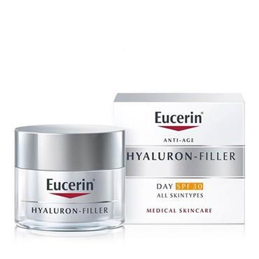 EUCERIN HYALURON FILLER WRINKLE FILLING TREATMENT DAY CREAM SPF30 ALL SKIN TYPES