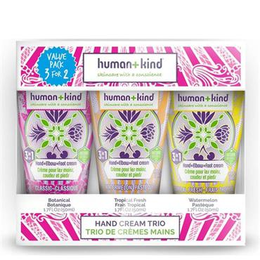 HUMAN AND KIND HAND CREAM TRIO