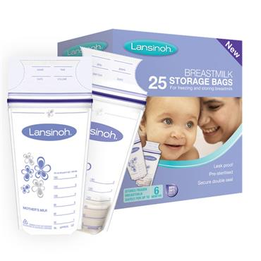 LANSINOH MILK STORAGE BAGS 25PACK