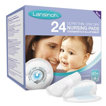 LANSINOH DISPOSABLE NURSING PADS 24