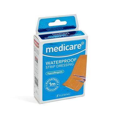 MEDICARE WATERPROOF DRESSING STRIP 1MX6CM WATERPROOF