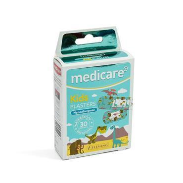 MEDICARE KIDS PLASTERS DINOSAUR 30PK