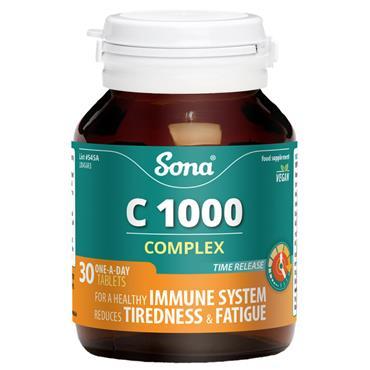 SONA NATURAL VIT C COMPLEX 1000MG 30S 30 TABS
