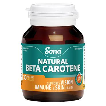 SONA NATURAL BETA CAROTENE 30S ONE A DAY 30 CAPS