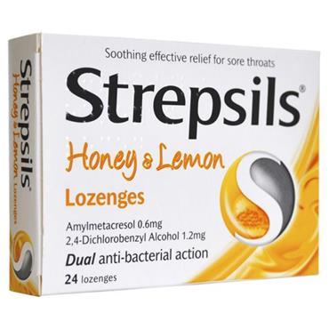 STREPSILS HONEY LEMON LOZENGES 24