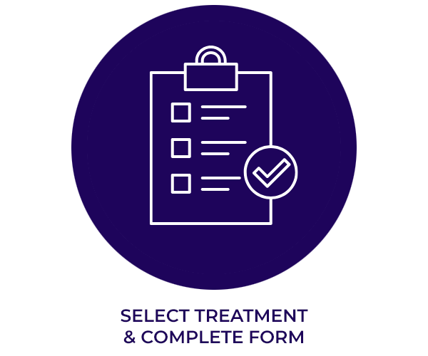 Select treatment and complete form