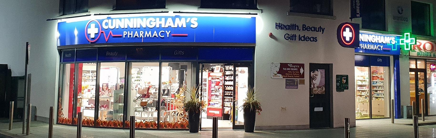 Cunningham's Pharmacy exterior shop