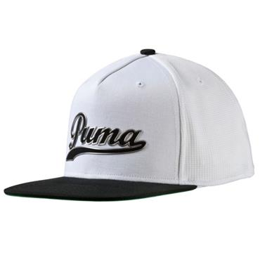 Puma Snap Back Cap  White - Black