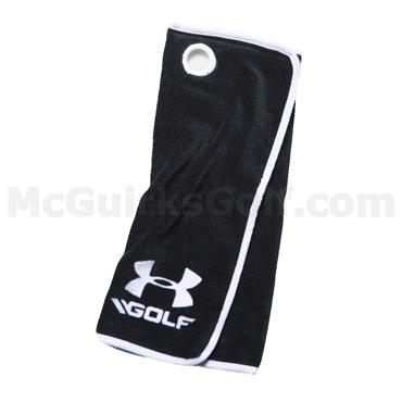 Under Armour Golf Towel Black  - White