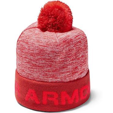Under Armour Boys Gametime Pom Beanie  Red 646