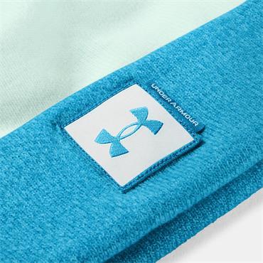 Under Armour Ladies Big Pom Logo Beanie  BLUE 403