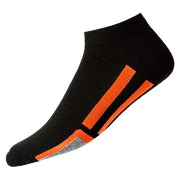 FootJoy Gents ProDry Sport Socks  Black/Orange