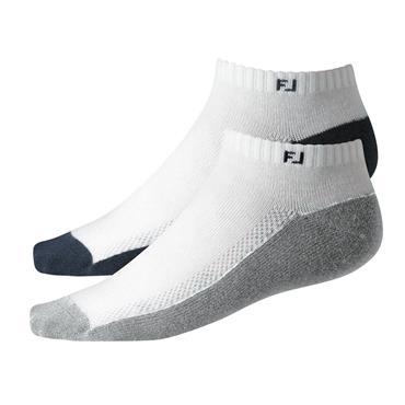 FootJoy Lds ProDry Sportlet 2pk Sock  White Navy