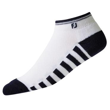 FootJoy Ladies Prodry Lightweight Splet Socks  White - Black