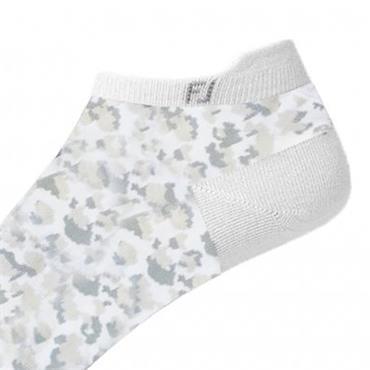 FootJoy Ladies Spot Print Socks  White