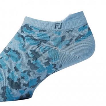 FootJoy Ladies Spot Print Socks  Blue
