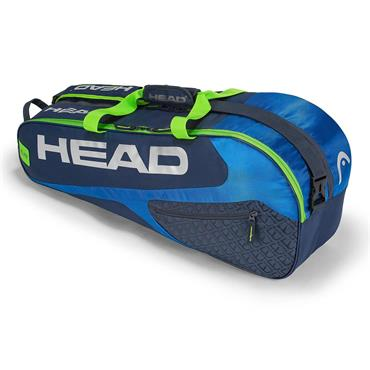 Head Head Elite 6R Combi Tennis Bag  Blue/Green