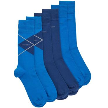 Hugo Boss Gift Set 3 pack Socks  Blue 476