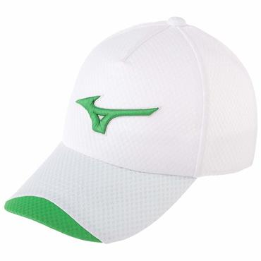 Mizuno Solar Cut Cap  White/Lime