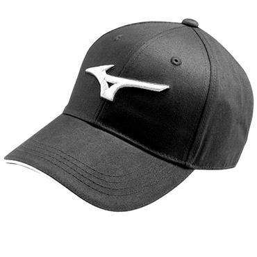 6e3b606ace6cd Mizuno RB Cotton Twill Cap Black ...