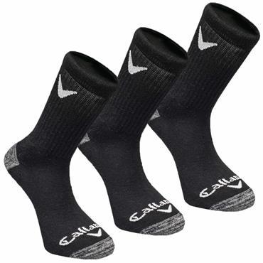 Callaway Gents Sport Crew Socks 3 Pack  Black
