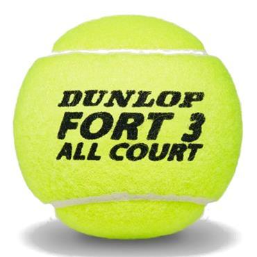 Dunlop 601234 All Court Tennis Ball 3-Pack  Yellow
