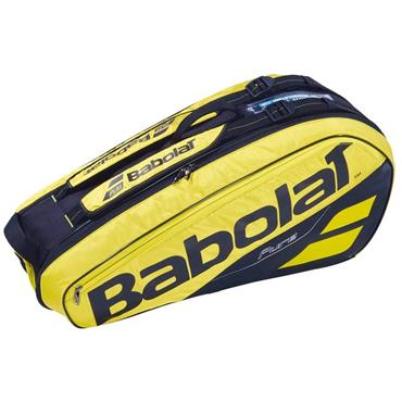 Babolat Pure Aero RH x 6 Tennis Bag  Yellow/Black