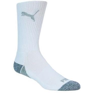 Puma Pounce Crew Cut Socks 3 Pair Pack 6-11 White