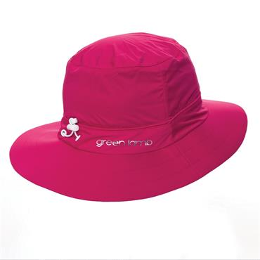 Green Lamb Germaine Waterproof Hat . Cerise