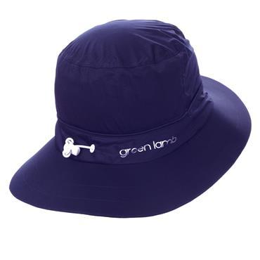 Green Lamb Germaine Waterproof Hat . Navy