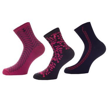 Green Lamb Socks 3 Pack . Berry Pebble Navy