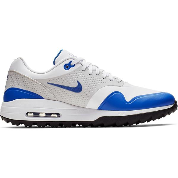 new concept 48406 5d9f2 Nike Gents Air Max 1G Golf Shoes White - Blue   Golf Store