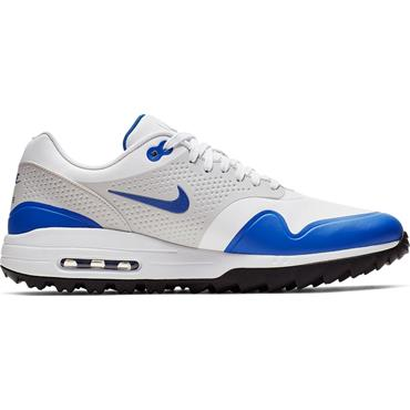 Nike Gents Air Max 1G Golf Shoes White - Blue