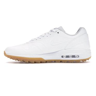 Nike Gents Air Max 1G Golf Shoes White - Brown