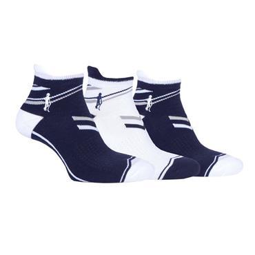 Glenmuir Ladies Megan Anklet 3pk Sock  Navy/Light Grey