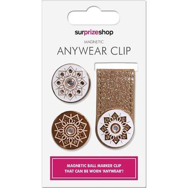 Surprizeshop Anywear Clip & Ball Marker  Rose Gold