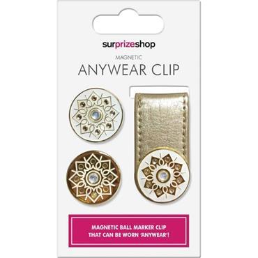 Surprizeshop Anywear Clip & Ball Marker  Gold