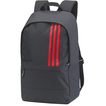 adidas 3 Stripe Backpack  Grey/Red