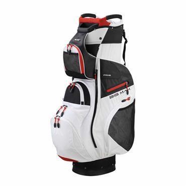 Big Max Dri-Lite Prime Cart Bag  White/Black/Red