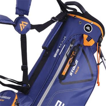 Big Max Dri Lite 7 Stand Bag  Navy Orange