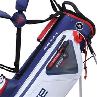 Big Max Dri Lite 7 Stand Bag  White/Navy/Red